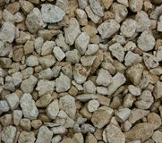 Textura de pedra do cascalho de pedras de construção Fotografia de Stock Royalty Free