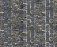 Textura de pedra do pavimento Fundo cobblestoned do pavimento do granito Fundo abstrato do close-up velho do pavimento da pedra S Fotos de Stock