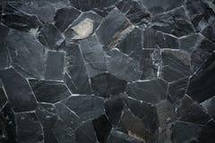 Textura de pedra preta do teste padrão Fotografia de Stock Royalty Free