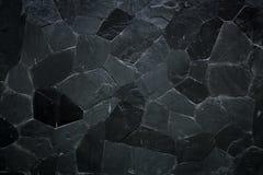 Textura de pedra preta do teste padrão Imagens de Stock Royalty Free