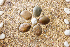 Textura de pedra redonda molhada da rocha Fotos de Stock Royalty Free