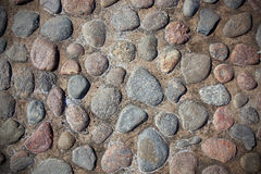 Textura de pedras do rio Fotografia de Stock Royalty Free
