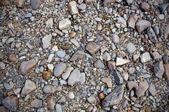 Textura de pedras do rio Fotografia de Stock