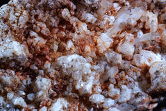 Textura de pequeños cristales minerales Fotos de archivo libres de regalías