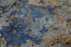Textura de piedra con moho Imágenes de archivo libres de regalías