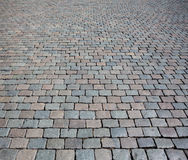 Textura de piedra de la calle del adoquín Imágenes de archivo libres de regalías
