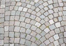 Textura de piedra de la superficie de la carretera del adoquín Fotos de archivo