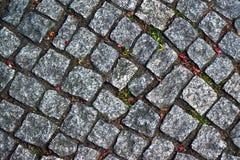 Textura de piedra del fondo del camino Imagen de archivo