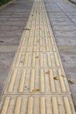Textura de piedra del pavimento de camino de la calle del vintage Fotografía de archivo libre de regalías