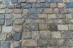Textura de piedra del pavimento del granito Fondo abstracto del viejo cobbl imagenes de archivo