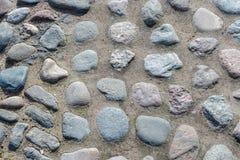 Textura de piedra del pavimento Pavimento del guijarro Textura de los adoquines - pavimento duro, una clase de pavimento Fotografía de archivo libre de regalías
