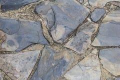 Textura de piedra del piso de la pizarra Fotografía de archivo