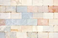 Textura de piedra inusual Pared del mármol Fondo de azulejos imagenes de archivo