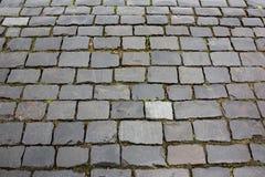 Textura de piedra mojada del pavimento imágenes de archivo libres de regalías