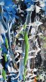 Textura de pintura de acrílico del extracto colorido foto de archivo