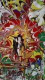 Textura de pintura de acrílico del extracto colorido fotografía de archivo libre de regalías