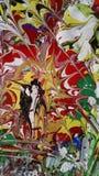 Textura de pintura de acrílico del extracto colorido imágenes de archivo libres de regalías