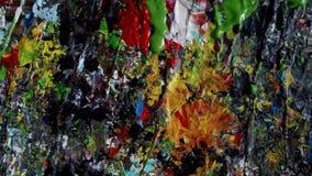 Textura de pintura de acrílico del extracto colorido fotografía de archivo