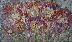 Textura de pintura de acrílico del extracto colorido fotos de archivo