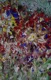 Textura de pintura de acrílico del extracto colorido imagen de archivo libre de regalías