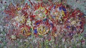 Textura de pintura de acrílico del extracto colorido foto de archivo libre de regalías