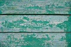 Textura de pintura verde rachada Fotografia de Stock Royalty Free