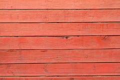 Textura de pranchas de madeira vermelhas Imagens de Stock