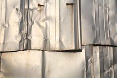 Textura de prata da parede do zinco Imagem de Stock Royalty Free