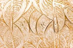 Textura de prata do engranzamento Foto de Stock Royalty Free