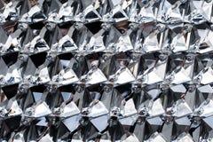 Textura de prata dos cristais de rocha, brilho de prata fotografia de stock