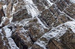 Textura de Rocky Snow Covered Hillside Background foto de stock royalty free
