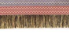 Textura de seda de la artesanía del estilo tailandés colorido y Imagen de archivo libre de regalías