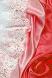 Textura de seda del cordón Imagen de archivo libre de regalías