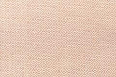 Textura de seda do fundo da tela do laço de Brown Fotografia de Stock Royalty Free