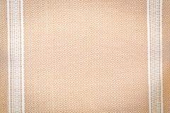 Textura de seda do fundo da tela do laço de Brown Imagem de Stock Royalty Free