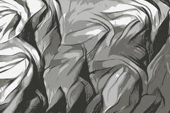 Textura de seda de uma tela da gaze, ilustração preto e branco ilustração royalty free