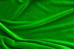 Textura de seda verde de pano de veludo Imagem de Stock