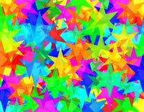 Textura de seis estrellas de los punkyes Foto de archivo