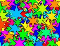 Textura de seis estrellas de los punkyes Fotos de archivo