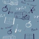 Textura de Semless sobre a escola Ilustração Royalty Free