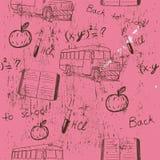 Textura de Semless sobre a escola. Ilustração Royalty Free