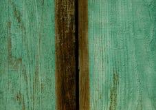 Textura de tableros pintados en verde imagenes de archivo