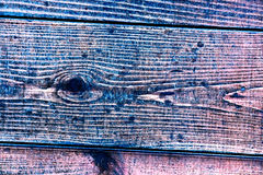 Textura de tablones de madera viejos con la pintura agrietada y manchada Foto de archivo libre de regalías