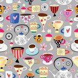 Textura de tazas y de tazas stock de ilustración