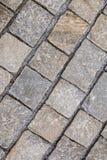 Textura de telhas do pavimento da pedra do godo Foto de Stock
