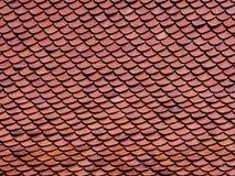 Textura de telhas de telhado tradicionais tailandesas fotografia de stock