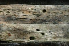 Textura de tiras de madeira velhas Imagens de Stock Royalty Free