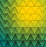Textura de triângulos do verde amarelo. ilustração royalty free