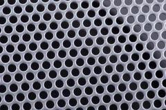 Textura de um metal perfurado imagem de stock