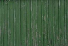 Textura de um passeio à beira mar gasto velho da cor verde Fotos de Stock